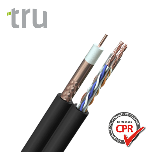 Cat 6 UTP + TV 100 Shotgun Cable